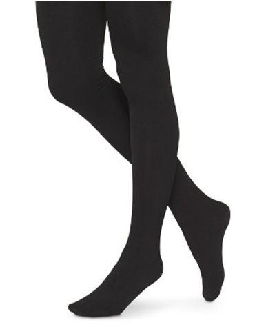 target black fleece lined tights