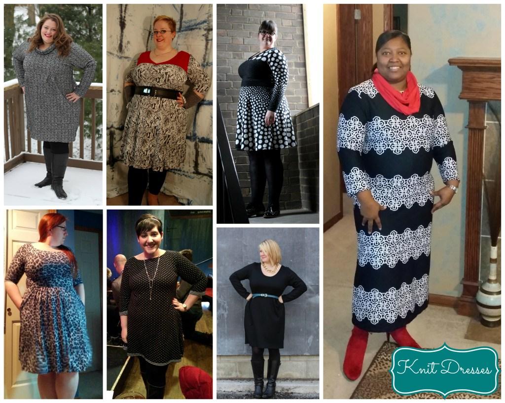knit dress blk greys