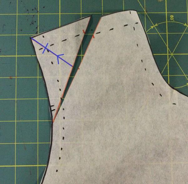 Narrow Shoulder Adjustment - cutting2
