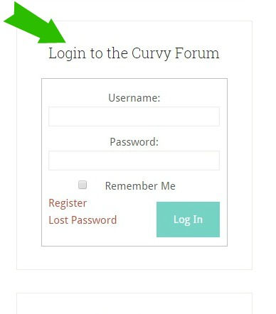 forum login sidebar