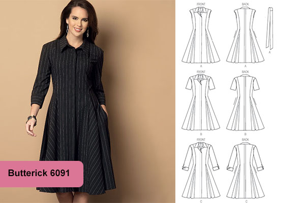 A line dress plus size pattern