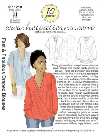 HotPatterns - Fast & Fabulous Draped Blouses