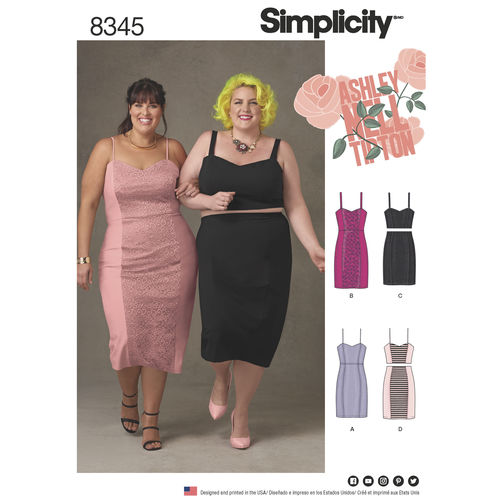 Pattern Review: Simplicity 8345 Plus Size Dress by Ashley ...
