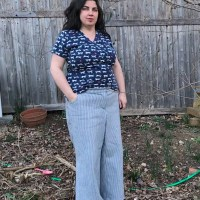 SAME PATTERN, DIFFERENT BODIES: PEPPERMINT WIDE LEG PANTS