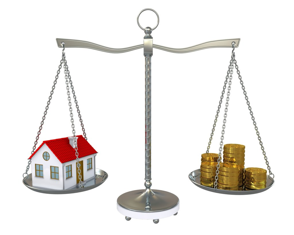 Home mortgage weighed against money
