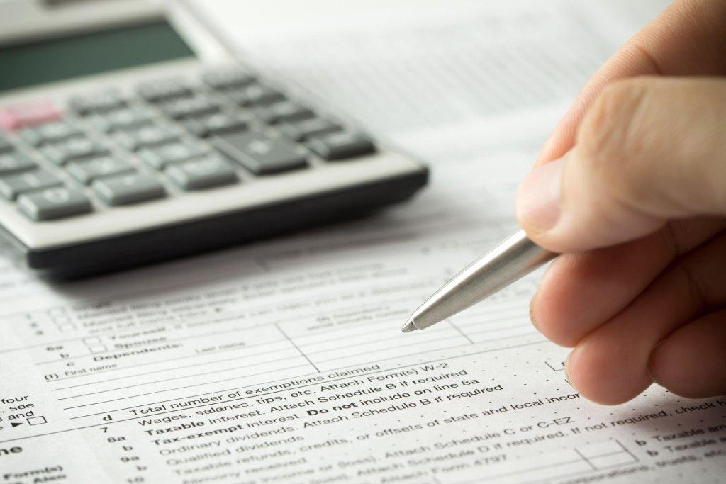 Calculating tax debt