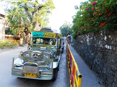 Getting around Puerto Galera by a jeepney