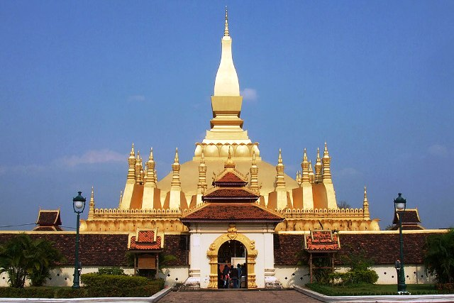 The Golden Temple of Pha That Luang