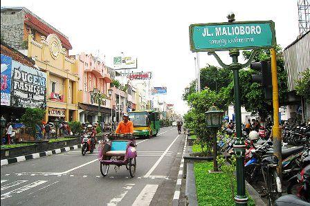 Malioboro Street in Yogyakarta