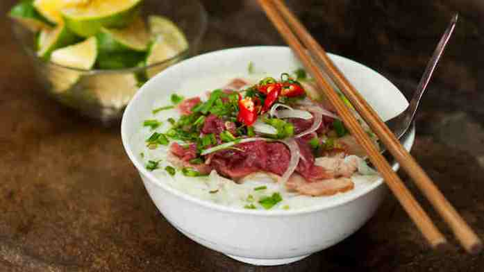 delicious Pho bo (beef noodle soup)