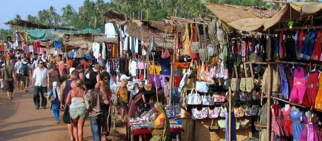 flea market, anjuna, goa, india