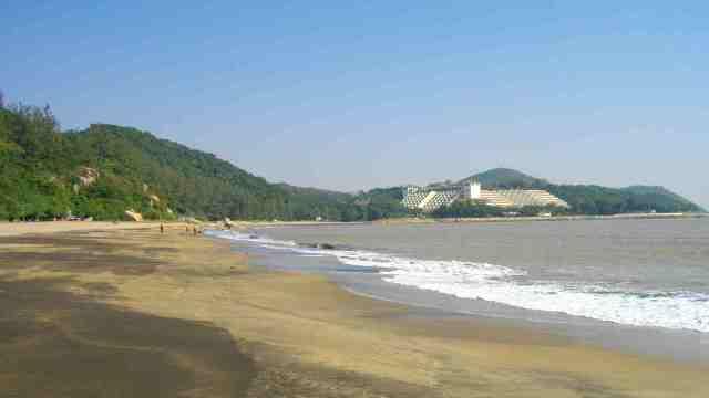 swimming, macau, beach