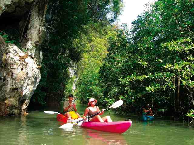 kayak, activity in krabi, thailand