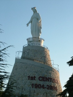 statue, virgin mary, lebanon, jounieh
