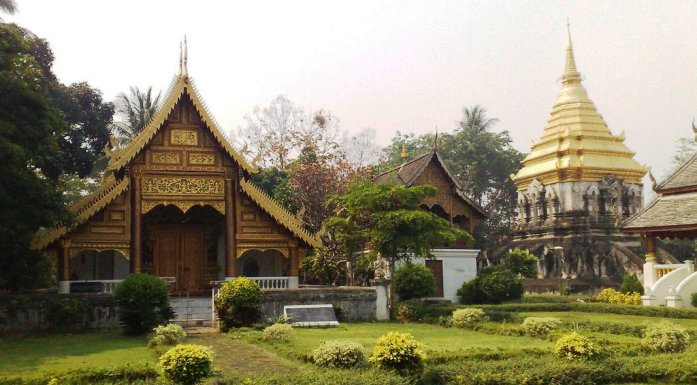 old temple, wat chiang man, thailand