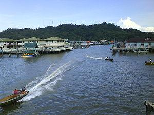 kampong ayer, water village, brunei