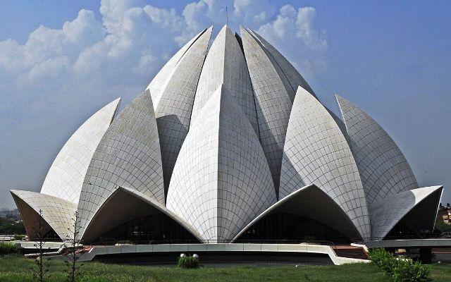 bahai temple, india, new delhi