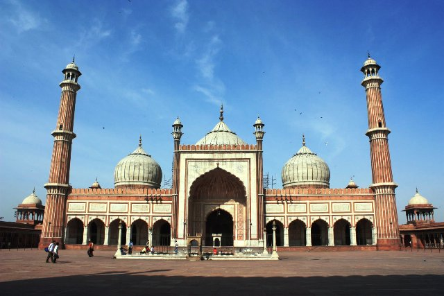 mosque, structure, attraction, india, new delhi