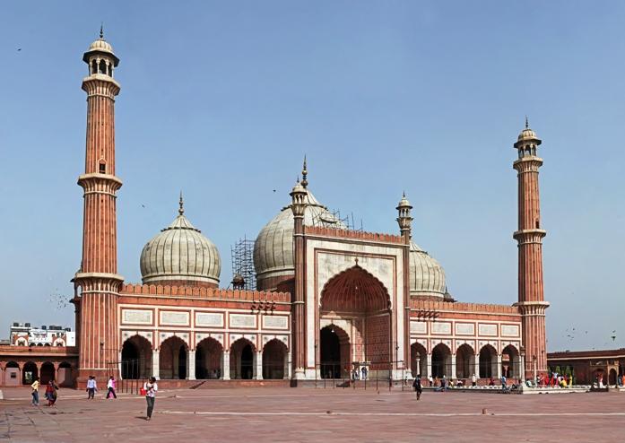 mosque, structure, attraction, india, new delhi