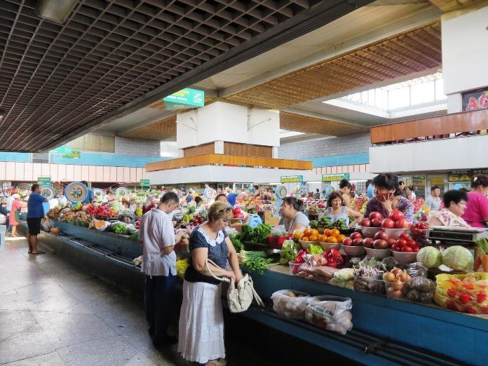 kazakhstan, attractions, almaty green bazaar