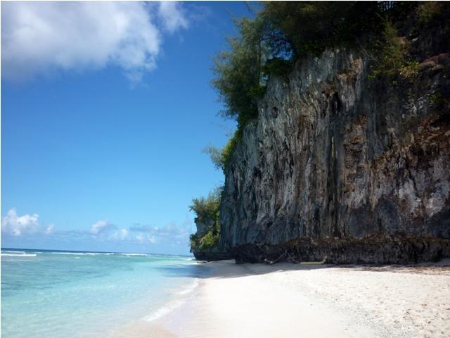 ritidian beach, white sand beach, guam