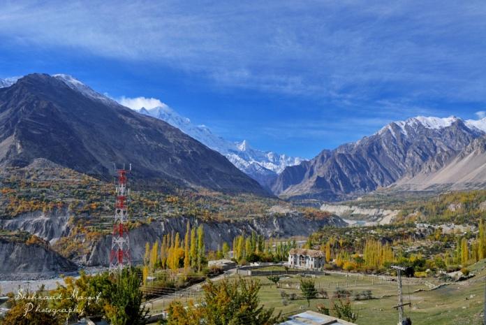 valley, hunza, river, pakistan