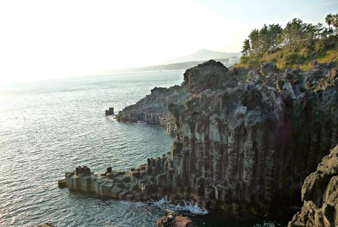 jusangjeolli cliffs, south korea, jeju
