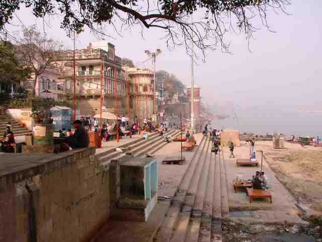assi ghat, temple, india, varanasi