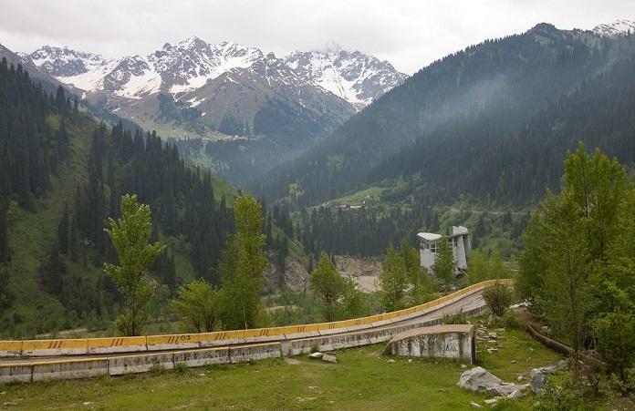 medeo valley, kazakhstan