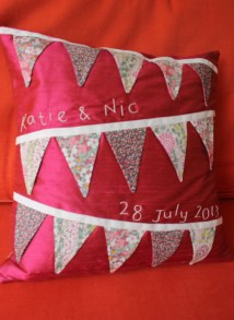 Katie and Nic - pure silk with Liberty lawn bunting