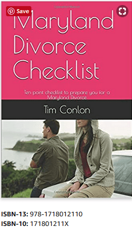 Maryland Divorce Checklist Book Cover