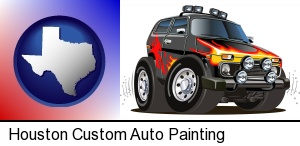 A Custom Automobile Paint Job In Houston Tx