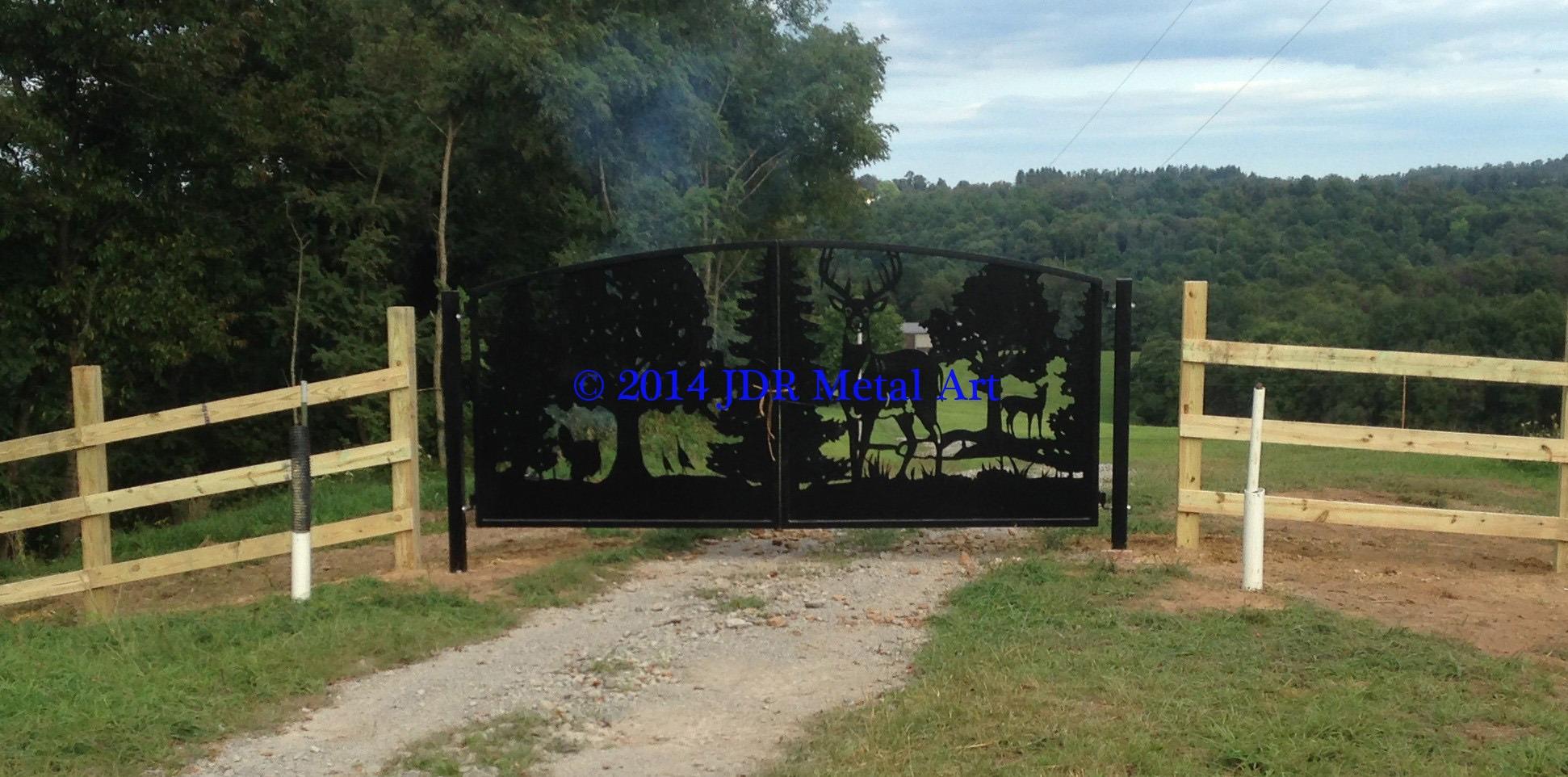 Wildlife Driveway Gates Custom Driveway Gates By Jdr