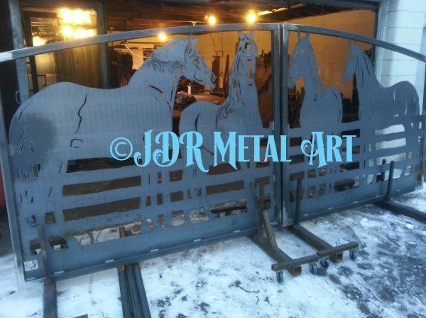 Horse Shoe Gate Latch Casey Custom Creations Metal Year