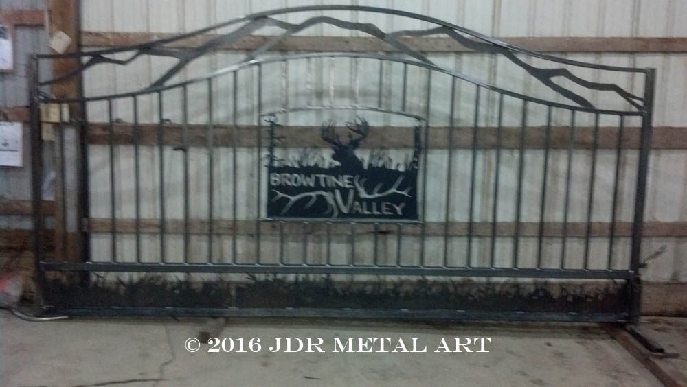 Double Arched Top Driveway Gate Custom Driveway Gates By JDR Metal Art 800 805 8254