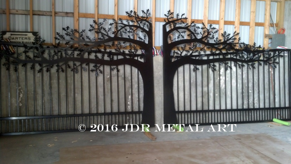Custom Driveway Gates Tree Design Kansas City Topeka By