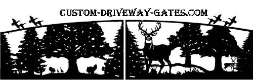 Driveway gate designs and silhouettes custom made.