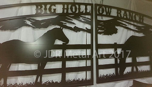 Horse Themed Gate Designs