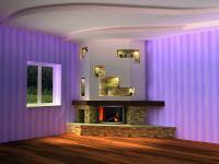 Electric fireplace on wheels on Custom-Fireplace. Quality ...