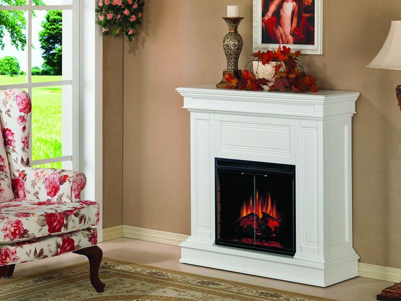 Heat surge fireless flame electric fireplace on CustomFireplace Quality electric gas and wood
