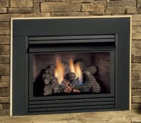 Double sided fireplace insert on Custom-Fireplace. Quality ...