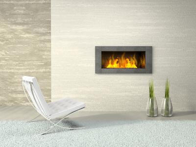 Tiling around a fireplace insert on Custom