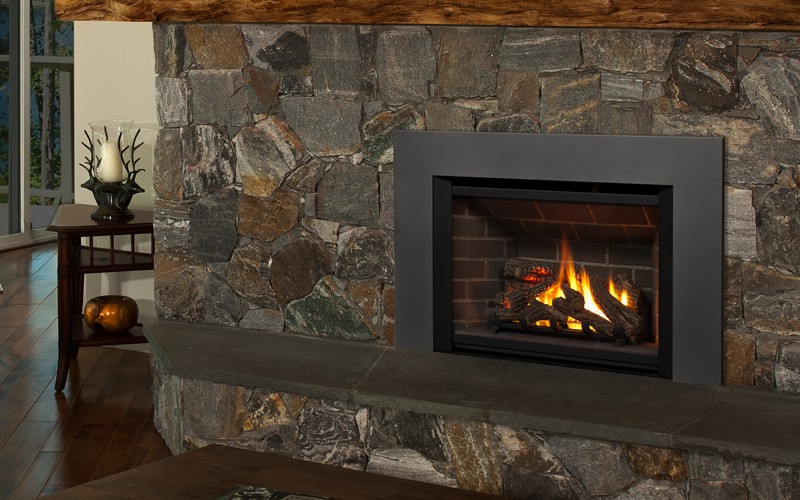 Gas fireplace insert for narrow fireplace on CustomFireplace Quality electric gas and wood