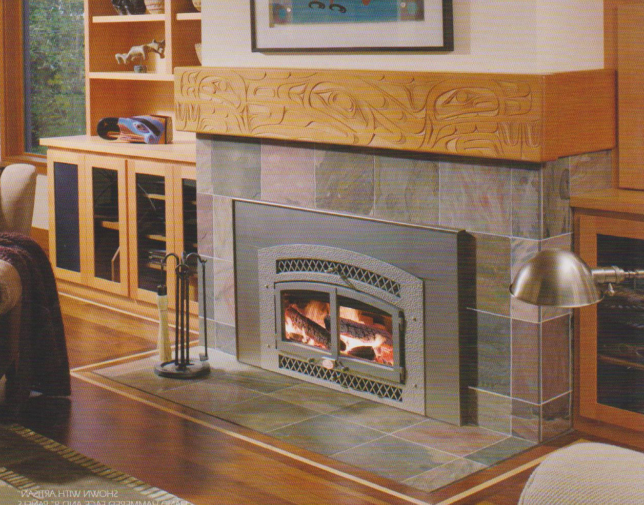Fireplace insert wood burning on CustomFireplace Quality electric gas and wood fireplaces and