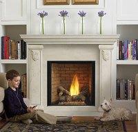 Ceramic fireplace insert on Custom-Fireplace. Quality ...