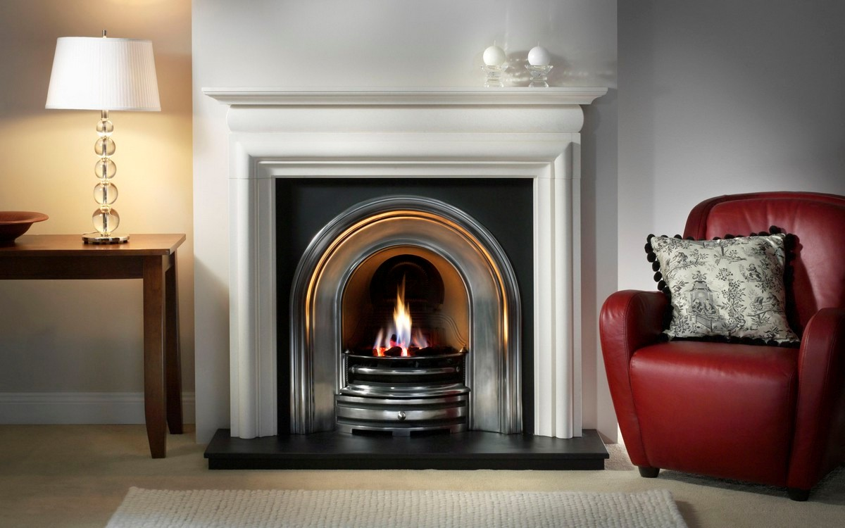 Granite fireplace mantel on CustomFireplace Quality electric gas and wood fireplaces and stoves