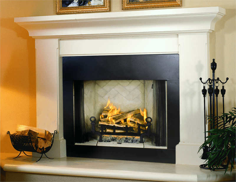 Electric corner fireplace mantel on CustomFireplace Quality electric gas and wood fireplaces