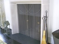Extra tall fireplace screen on Custom
