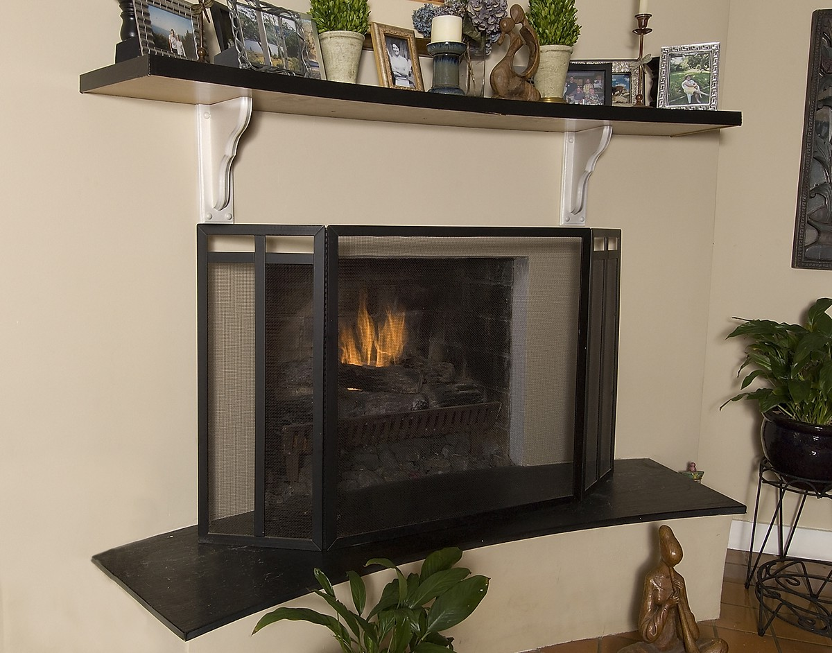 Fireplace screen art deco on CustomFireplace Quality