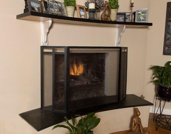 Fireplace Screen Art Deco Custom-fireplace. Quality